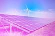 canvas print picture - solar and wind generators