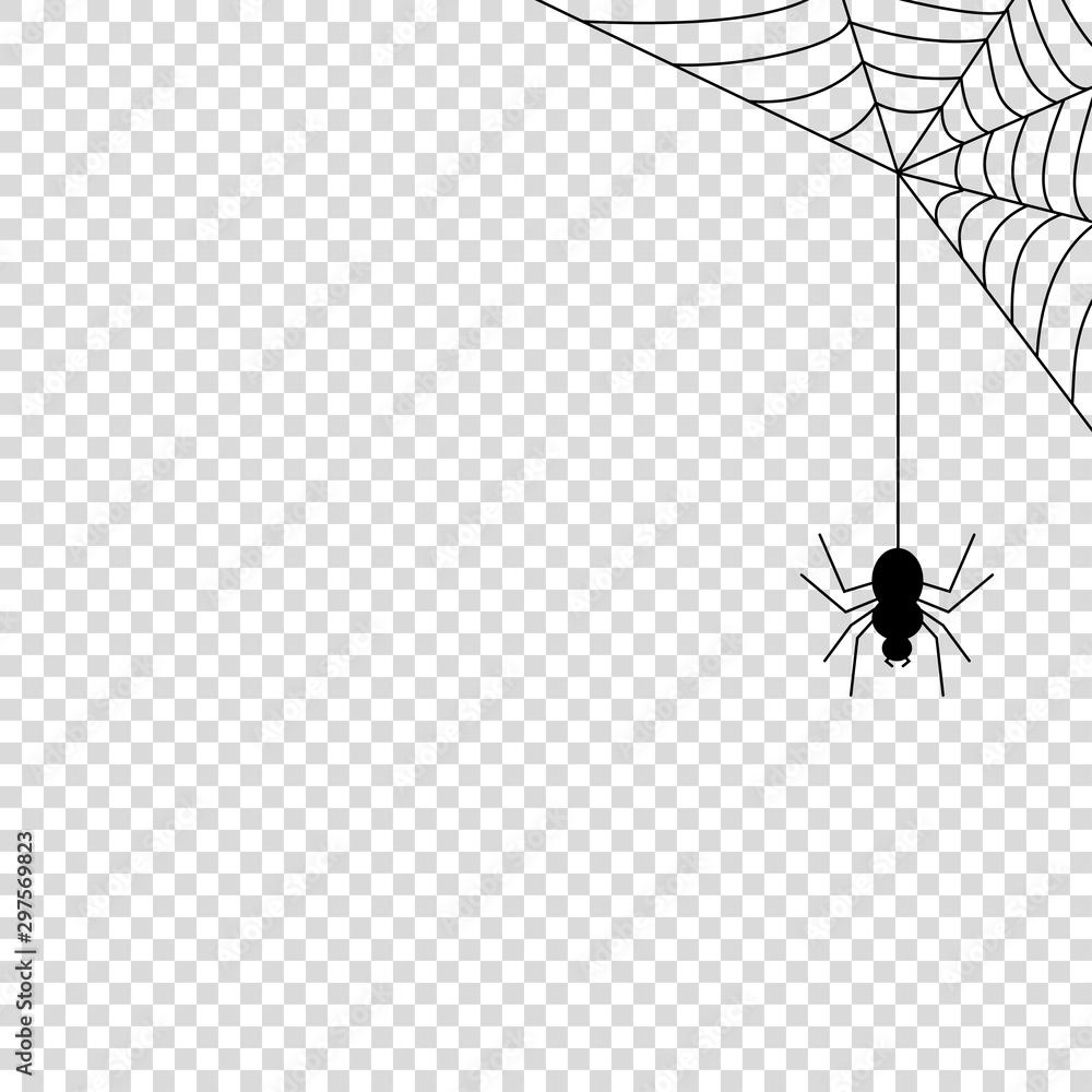 Fototapety, obrazy: Spider web icon mock up vector illustration