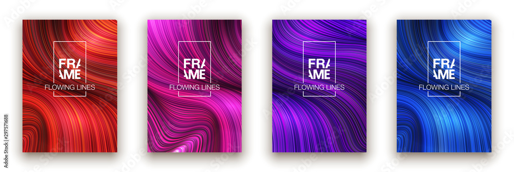 Fototapeta Modern colorful flow poster. Wave Liquid shape color background. Art design for your design project. Vector illustration EPS10