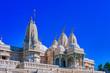 Leinwanddruck Bild - View of a white marble hindu temple