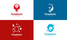 Set Of Creative People Logo Wi...