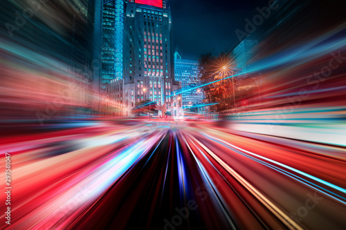 Obraz na plátně  Hong Kong City Nightscape