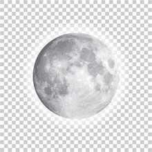 Full Moon Isolated With Backgr...