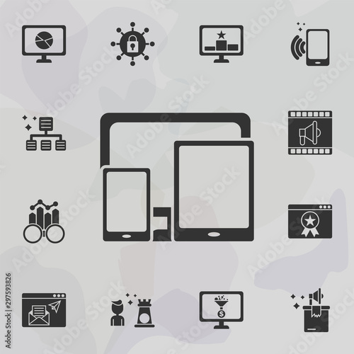 Online marketing, responsive icon Wallpaper Mural