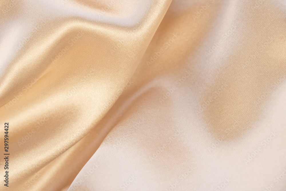 Fototapety, obrazy: Shiny beige luxury silk background