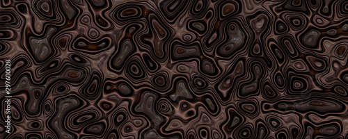 Abstract liquid walnut background - 297600028