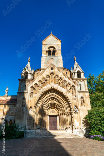 Photo Budapest, Hungary - October 01, 2019: Church of Jaki in Vajdahunyad castle complex in Budapest