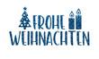 canvas print picture - Frohe Weinachten - glitzernde Buchstaben und weihnachtliche Symbole