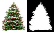 Christmas Snowy Tree Decorated...