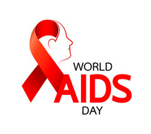 Aids Awareness Red Ribbon With...