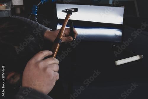 Fotomural  car dent repair equipment