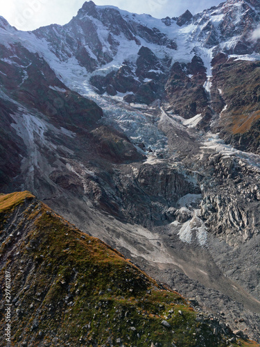 Obraz na plátne Panoramic view of the seracs of the east face of Monte Rosa, in Italy
