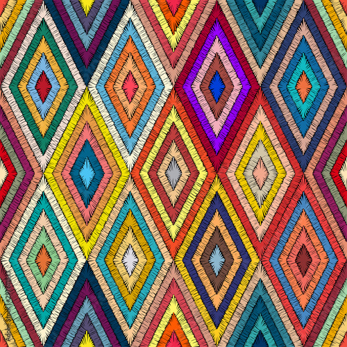embroidered-geometric-seamless-pattern-handmade-in-bohemian-style-patchwork-hand-drawn-ornament-pricn-for-textiles-wrappers-carpets-ethnic-and-tribal-motifs-vector-illustration