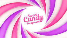Sweet Candy Background With Pl...