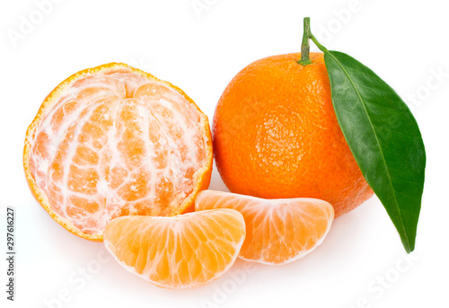 Cadres-photo bureau Akt Fresh mandarin on white background