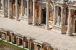Elements of the old amphitheater, Hierapolis in Pamukkale, Turkey.