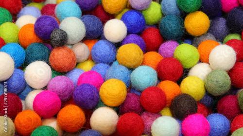 small felt balls handmade Wallpaper Mural