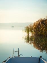 Sailing Ships At Lake Neusiedl At Sunset