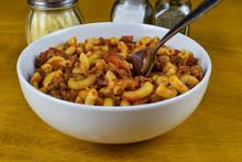 American Chop Suey In A Bowl,