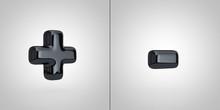 Black Alphabet Symbols Plus An...