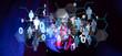 canvas print picture Social Media Communication Internet Network 3d