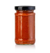 Tomato Sauce Jar On White Back...