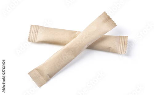 Fotomural paper sachets isolated