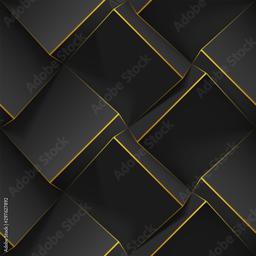 Fotografía Dark abstract seamless geometric pattern