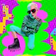 Leinwandbild Motiv Club style party girl. Creative zine collage. Animal print and geometry