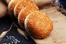 Fresh Homemade Burger Buns Wit...