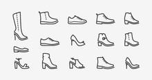 Shoes Icon Set. Fashion, Shoes...