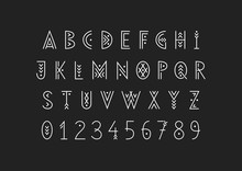 Linear Geometric Uppercase Fon...