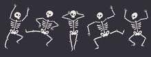 Funny Halloween Skeletons In D...