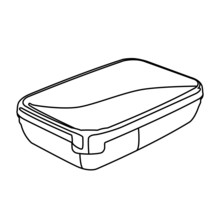 Food Container Contour Vector Illustration