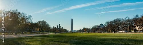 Fototapeta Washington Monument view from National Mall