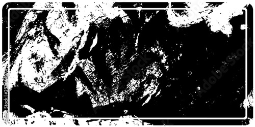 Fotobehang Vrouw gezicht Grunge rubber stamp rectangular. Black background for text, label, icons