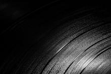 Vinyl Records In A Dark Surroundings
