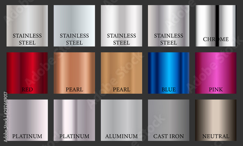 Photographie Different metal gradients for design and logo