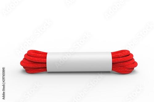 Blank shoelaces for branding and mock up. 3d render illustration. Poster Mural XXL