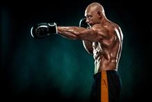 Sportsman, Man Boxer Fighting ...