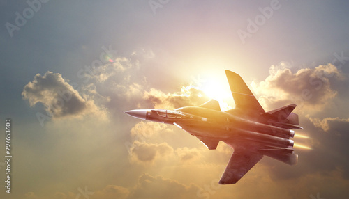 air combat fighter secne background photo Canvas Print