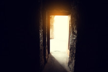 Church Door With Light Background