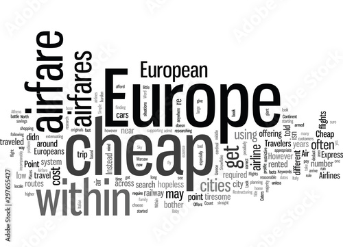 How To Find Cheap Airfare Within Europe Canvas Print