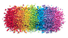 Pile Of Colorful Rainbow Toy B...