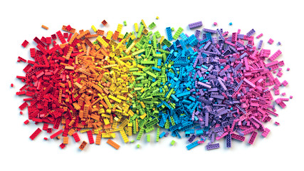 Pile of colorful rainbow to...