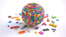 Colored Toy Bricks In Form Of ...