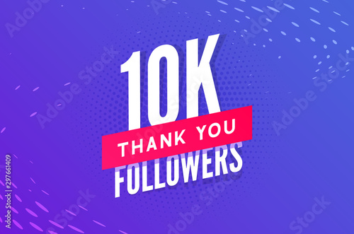 Fototapeta 10000 followers vector