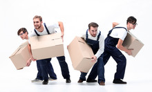 Movers In A Hurry To Do Their ...