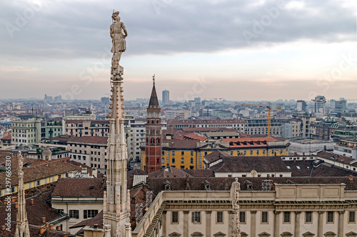 Fotografie, Obraz  View over Milan from the top of the Milan Cathedral, Italy
