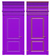 canvas print picture - Classic wooden door with cast-iron parts, cornices and platbands